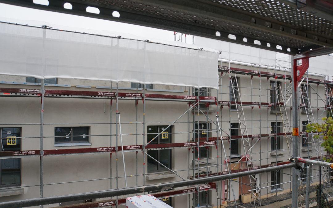 Einbettung Fassade, Abrieb innen